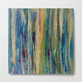 Abstract Forest at Sunrise Painting Metal Print