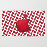 apple Area & Throw Rugs featuring Apple by JT Digital Art