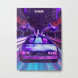 Retro of Future Metal Print