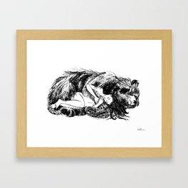 I love my Bear (Black and white) Framed Art Print