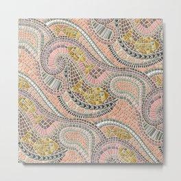 mosaic fish pastel Metal Print