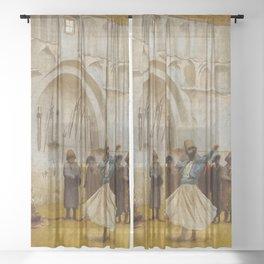"Jean-Léon Gérôme ""The Whirling Dervish - sketch"" Sheer Curtain"
