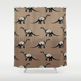 ChocoPaleo: Brontosaurus Shower Curtain