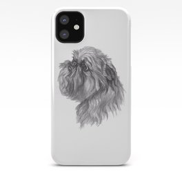 Gotta draw the Brussels Griffon cutie! iPhone Case