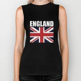 Union Jack England United Kingdom Flag Biker Tank