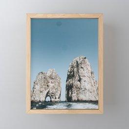 Faraglioni Framed Mini Art Print