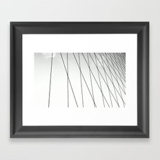 BROOKLYN BRIDGE / NEW YORK Framed Art Print