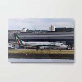 Alitalia  Embraer ERJ-190 London City Airport Metal Print