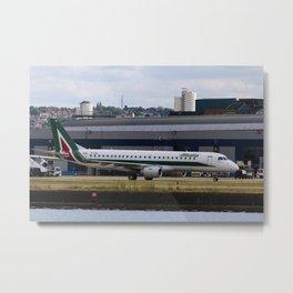 Alitalia  Embraer ERJ-190 London City Airport Metal Print