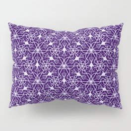 Feminine Energy Deep Purple and Lavender Lines Female Spirit Organic Pillow Sham