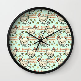 a successful chicken Wall Clock