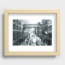 Manhattan old style Recessed Framed Print