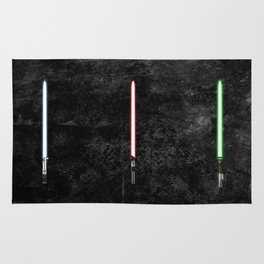 Starwars Original Trilogy Lightsabers Rug