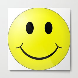 Smiley Face Metal Print