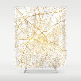 CHARLOTTE NORTH CAROLINA CITY STREET MAP ART Shower Curtain