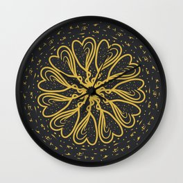 night golden pattern Wall Clock