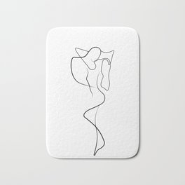 Lovers - Minimal Line Drawing 1 Bath Mat