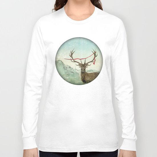 hold deer, tsunami Long Sleeve T-shirt