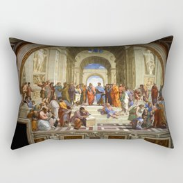 "Raphael, "" The School of Athens "" Rectangular Pillow"