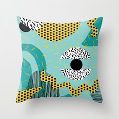 Boss - abstract 80s style memphis vibes patterns 1980's retro minimal throwback decor Throw Pillow