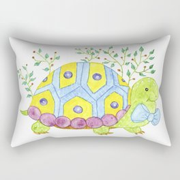 Colorful turtle Rectangular Pillow