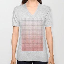 Sweet Pink Geometry Unisex V-Neck