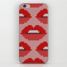 Lips pattern - pink iPhone & iPod Skin