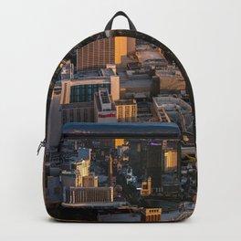 Sunset over Las Vegas Strip Backpack