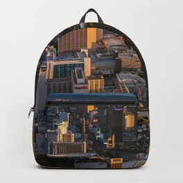 Sunset over Las Vegas Strip Backpack
