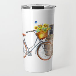 Sunflower Bicycle Travel Mug