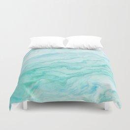Ocean Blue Marble Texture Duvet Cover
