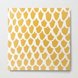 yellow scallop Metal Print