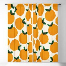 Abstraction_Orange_Fruit Blackout Curtain