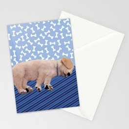 Sleeping puppy Stationery Cards