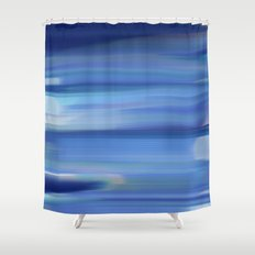 Hues of Blue Shower Curtain
