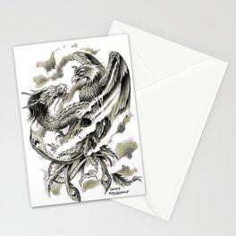 Dragon Phoenix Tattoo Art Print Stationery Cards
