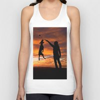 workout Tank Tops featuring Sunset Workout by Sandy Broenimann