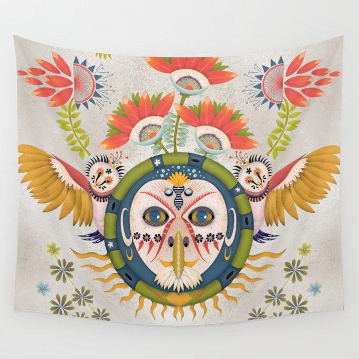 Inca Owl Wall Tapestry