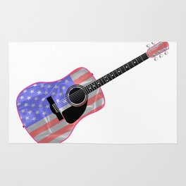 Stars and Stripes Guitar Rug