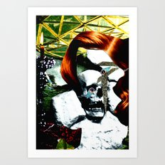 HER RUBY MY EMERALD Art Print