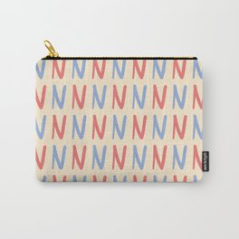 Upper Case Letter N Pattern Carry-All Pouch