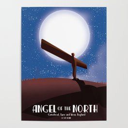 Angel of the North Full Moon Poster