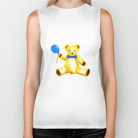 teddy bear Biker Tanks featuring Teddy Bear by Artisimo