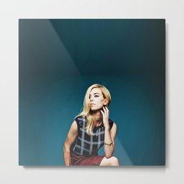 Blonde Vanessa Kirby - Celebrity (Oil Paint Art) Metal Print