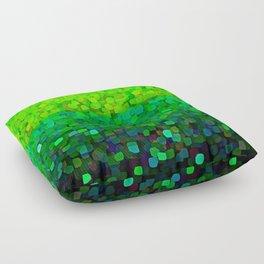Glitter Sparkles Green Floor Pillow