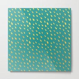 Little gold raindrops Metal Print