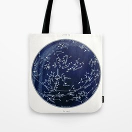 French July Star Maps in Deep Navy & Black, Astronomy, Constellation, Celestial Tote Bag