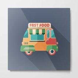 Fast Food Van Metal Print