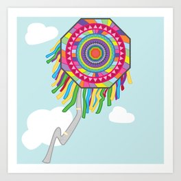 Kite my colors Art Print