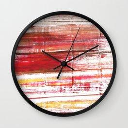 Lavender blush abstract watercolor Wall Clock